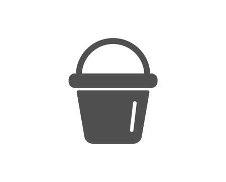 Ilustración de Cleaning bucket simple icon. Washing housekeeping equipment sign. Quality design elements. Classic style. Vector illustration. - Imagen libre de derechos