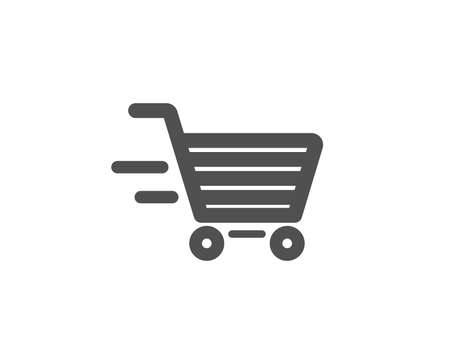 Illustration for Delivery Service simple icon. Shopping cart sign. Express Online buying. Supermarket basket symbol. Quality design elements. Classic style. Vector - Royalty Free Image