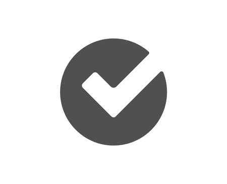 Illustration pour Check simple icon. Approved Tick sign. Confirm, Done or Accept symbol. Quality design elements. Classic style. Vector - image libre de droit