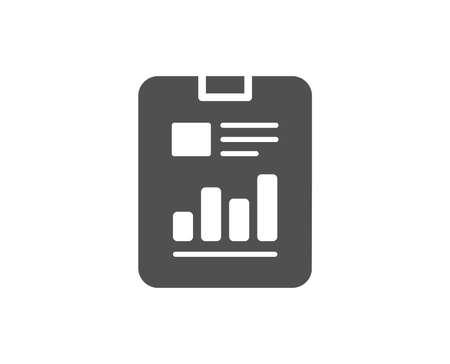Illustration pour Report document simple icon. Analysis Chart or Sales growth sign. Statistics data symbol. Quality design elements. Classic style. Vector - image libre de droit
