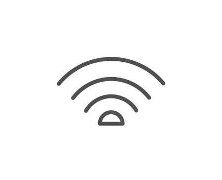 Illustration pour Wifi line icon. Wifi internet sign. Wireless network symbol. Quality design element. Editable stroke. Vector - image libre de droit