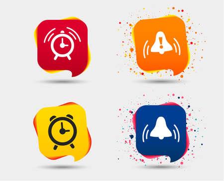 Ilustración de Set of alarm clock icons. - Imagen libre de derechos