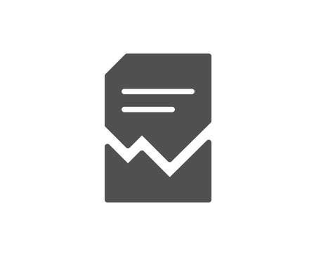 Illustrazione per Corrupted Document simple icon. Bad File sign. Paper page concept symbol. Quality design elements. Classic style. Vector - Immagini Royalty Free