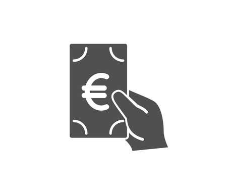 Ilustración de Hold Cash money simple icon. Banking currency sign. Euro or EUR symbol. Quality design elements. Classic style. Vector - Imagen libre de derechos