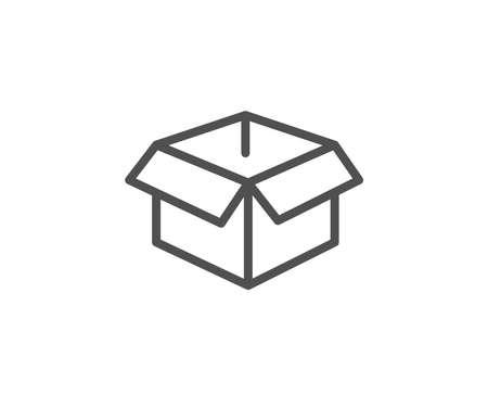 Illustration pour Opened box line icon. Logistics delivery sign. Parcels tracking symbol. Quality design element. Editable stroke. - image libre de droit