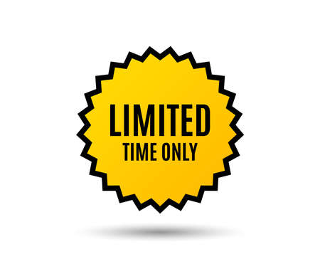 Ilustración de Limited time symbol. Special offer sign. - Imagen libre de derechos