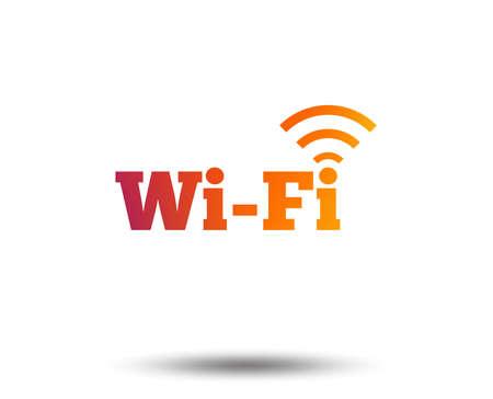 Illustration pour Free wifi sign. Wifi symbol. Wireless Network icon. Wifi zone. Blurred gradient design element. Vivid graphic flat icon. Vector illustration. - image libre de droit