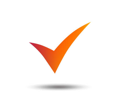 Illustration pour Check sign icon. Yes symbol. Confirm. Blurred gradient design element. Vivid graphic flat icon. Vector - image libre de droit