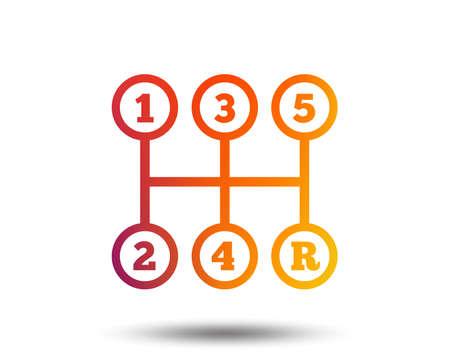 Ilustración de Manual transmission sign icon. - Imagen libre de derechos
