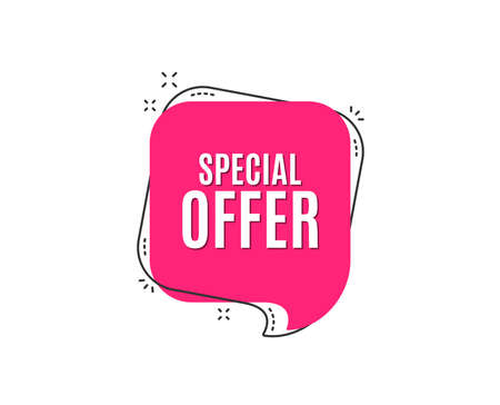 Illustration pour Special offer symbol. Sale sign. Advertising Discounts symbol. Speech bubble tag. Trendy graphic design element. Vector - image libre de droit