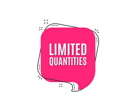 Ilustración de Limited quantities symbol. Special offer sign. Sale. Speech bubble tag. Trendy graphic design element. Vector - Imagen libre de derechos
