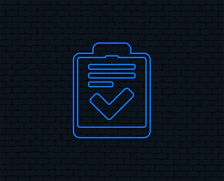 Illustration pour Checklist sign icon on Control list symbol. - image libre de droit