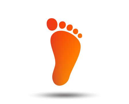 Illustration pour Child footprint sign icon. Toddler barefoot symbol. Blurred gradient design element. Vivid graphic flat icon. Vector - image libre de droit