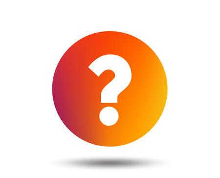 Ilustración de Question mark sign icon. Help symbol. FAQ sign. Blurred gradient design element. Vivid graphic flat icon. Vector - Imagen libre de derechos