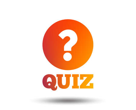 Illustration pour Quiz with question mark sign icon. Questions and answers game symbol. Blurred gradient design element. Vivid graphic flat icon. - image libre de droit