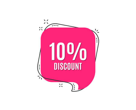 Illustration pour 10% Discount. Sale offer price sign. Special offer symbol. Speech bubble tag. Trendy graphic design element. Vector - image libre de droit