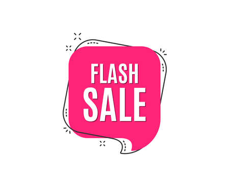 Illustration for Flash Sale. Special offer price sign. Advertising Discounts symbol. Speech bubble tag. Trendy graphic design element. Vector - Royalty Free Image
