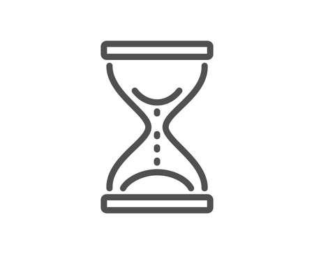 Ilustración de Time hourglass line icon. Sand watch sign. Quality design element. Classic style. Editable stroke. Vector - Imagen libre de derechos