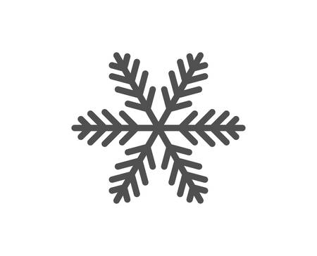 Illustration pour Snowflake line icon. Christmas snow sign. Winter or cold symbol. Quality design element. Classic style snowflake. Editable stroke. Vector - image libre de droit
