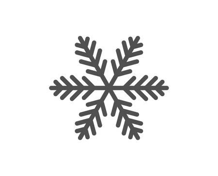 Ilustración de Snowflake line icon. Christmas snow sign. Winter or cold symbol. Quality design element. Classic style snowflake. Editable stroke. Vector - Imagen libre de derechos