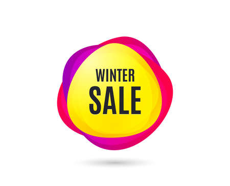 Illustration for Winter Sale. Special offer price sign. Advertising Discounts symbol. Gradient sales tag. Abstract shopping banner. Template for design. Vector - Royalty Free Image