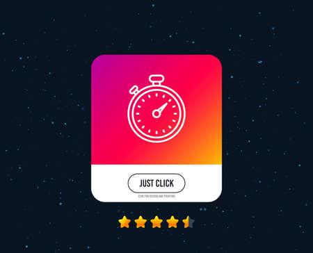 Ilustración de Timer line icon. Stopwatch symbol. Time management sign. Web or internet line icon design. Rating stars. Just click button. Vector - Imagen libre de derechos