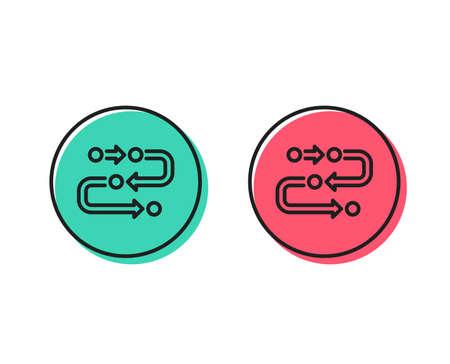 Illustration pour Methodology line icon. Development process sign. Strategy symbol. Positive and negative circle buttons concept. Good or bad symbols. Methodology Vector - image libre de droit