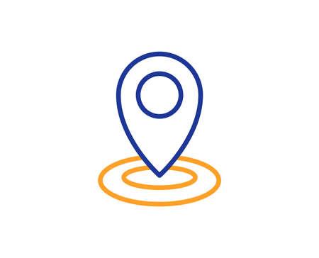 Illustration pour Location line icon. Map pointer sign. Colorful outline concept. Blue and orange thin line color icon. Location Vector - image libre de droit
