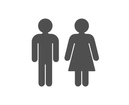 Illustration pour Restroom icon. WC toilet sign. Public lavatory symbol. Quality design element. Classic style icon. Vector - image libre de droit