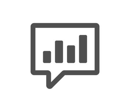 Illustration pour Chart icon. Report graph or Sales growth sign in speech bubble. Analysis and Statistics data symbol. Quality design element. Classic style icon. Vector - image libre de droit