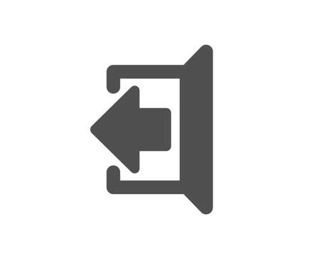 Illustration for Logout arrow icon. Sign out symbol. Navigation pointer. Quality design element. Classic style icon. Vector - Royalty Free Image