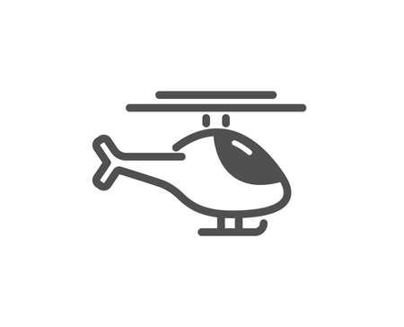 Illustration pour Helicopter transport icon. Flight transportation sign. Quality design element. Classic style icon. Vector - image libre de droit