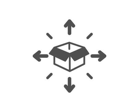 Illustration pour Parcel delivery icon. Logistics service sign. Tracking symbol. Quality design element. Classic style icon. Vector - image libre de droit