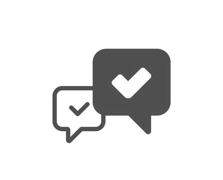 Illustration pour Approve icon. Accepted or confirmed sign. Speech bubble symbol. Quality design element. Classic style icon. Vector - image libre de droit