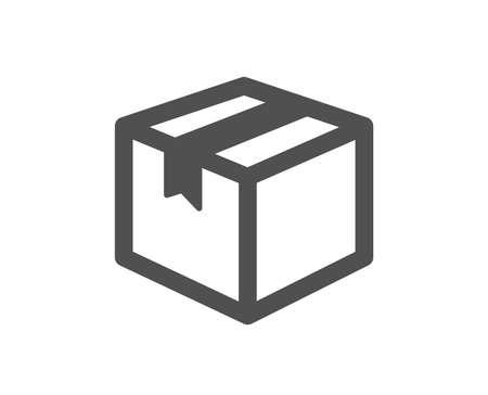 Illustration pour Shipping box icon. Logistics delivery sign. Parcels tracking symbol. Quality design element. Classic style icon. Vector - image libre de droit