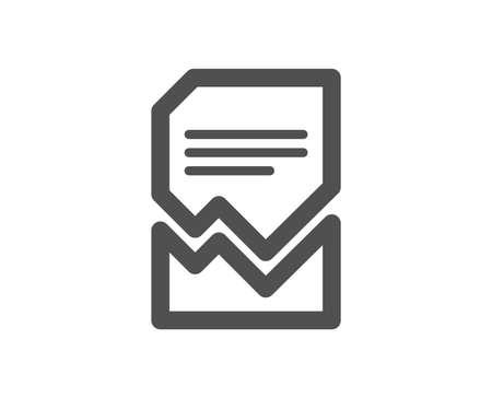 Illustrazione per Corrupted Document icon. Bad File sign. Paper page concept symbol. Quality design element. Classic style icon. Vector - Immagini Royalty Free