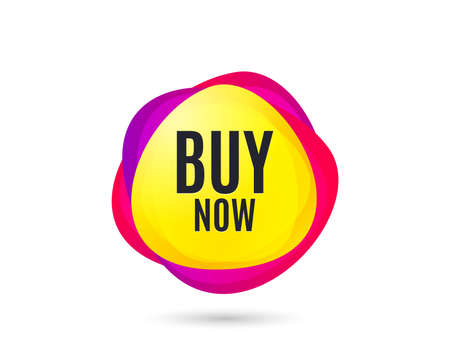 Photo pour Buy Now. Special offer price sign. Advertising Discounts symbol. Gradient sales tag. Abstract shopping banner. Template for design. Buy now vector - image libre de droit