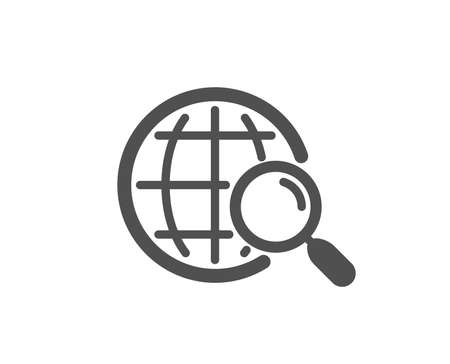 Illustration pour Web search icon. Find internet results sign. Quality design element. Classic style icon. Vector - image libre de droit
