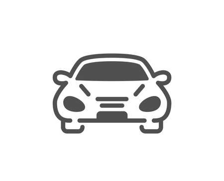 Illustration pour Car transport icon. Transportation vehicle sign. Driving symbol. Quality design element. Classic style icon. Vector - image libre de droit