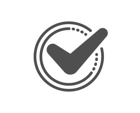 Illustration pour Check mark icon. Accepted or Approve sign. Tick symbol. Quality design element. Classic style icon. Vector - image libre de droit