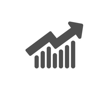 Illustration pour Chart icon. Report graph or Sales growth sign. Analysis and Statistics data symbol. Quality design element. Classic style icon. Vector - image libre de droit