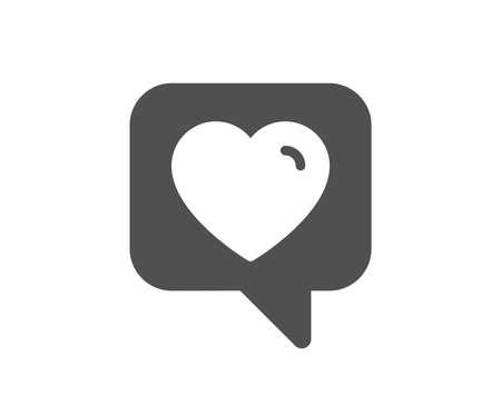 Ilustración de Heart icon. Favorite like sign. Positive feedback symbol. Quality design element. Classic style icon. Vector - Imagen libre de derechos