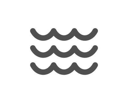 Ilustración de Waves icon. Sea flowing sign. Water symbol. Quality design element. Classic style icon. Vector - Imagen libre de derechos