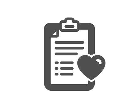 Ilustración de Medical survey icon. Hospital patient history sign. Quality design element. Classic style icon. Vector - Imagen libre de derechos