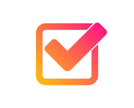 Illustration pour Check icon. Approved Tick sign. Confirm, Done or Accept symbol. Classic flat style. Gradient checkbox icon. Vector - image libre de droit