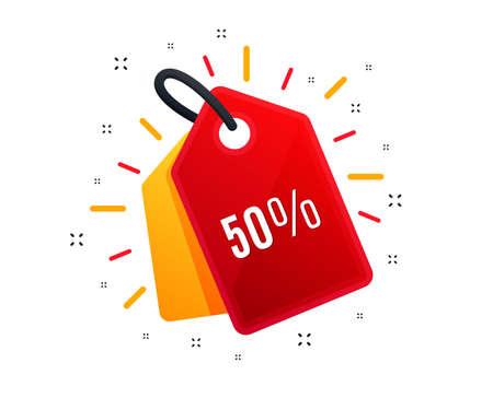 Illustration pour Sale tag. 50% off Sale. Discount offer price sign. Special offer symbol. - image libre de droit