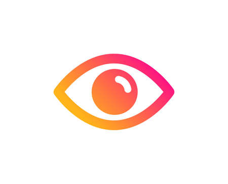 Illustration pour Eye icon. Look or Optical Vision sign. View or Watch symbol. Classic flat style. Gradient eye icon. Vector - image libre de droit