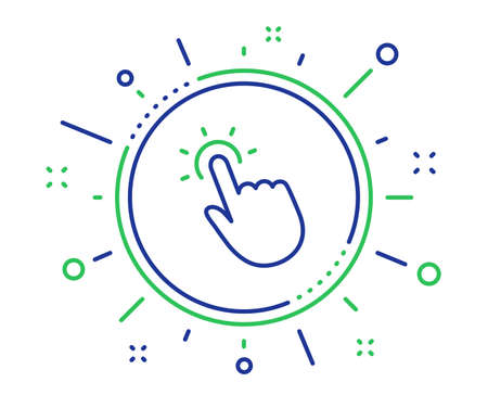 Ilustración de Touchpoint line icon. Click here sign. Touch technology symbol. Quality design elements. Technology touchpoint button. Editable stroke. Vector - Imagen libre de derechos