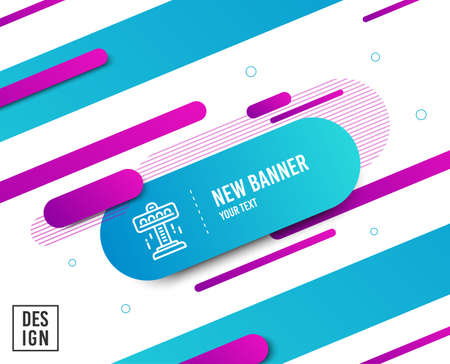 Illustration for Carousels line icon. Amusement attraction park sign. Diagonal abstract banner. Linear attraction icon. Geometric line shapes. Vector - Royalty Free Image