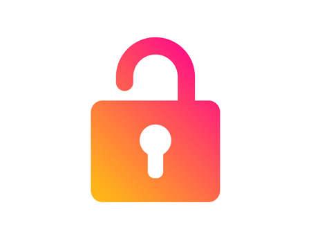 Ilustración de Lock icon. Private locker sign. Password encryption symbol. Classic flat style. Gradient lock icon. Vector - Imagen libre de derechos